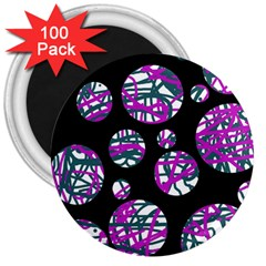 Purple decorative design 3  Magnets (100 pack)