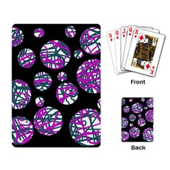 Purple decorative design Playing Card