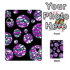 Purple decorative design Playing Cards 54 Designs