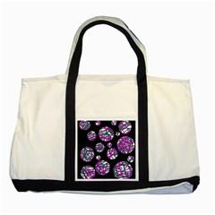Purple decorative design Two Tone Tote Bag