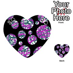Purple decorative design Playing Cards 54 (Heart)