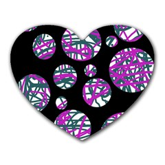 Purple decorative design Heart Mousepads