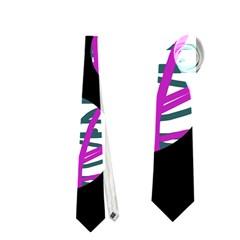Purple decorative design Neckties (Two Side)