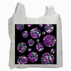 Purple decorative design Recycle Bag (Two Side)