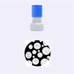 Purple decorative design Rubber Round Stamps (Small)