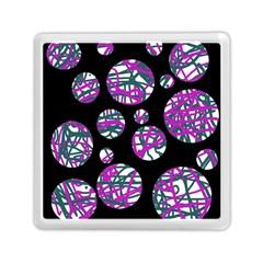 Purple decorative design Memory Card Reader (Square)