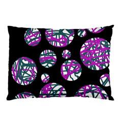 Purple decorative design Pillow Case (Two Sides)