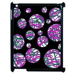 Purple decorative design Apple iPad 2 Case (Black)