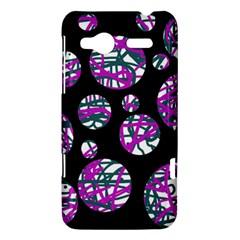 Purple decorative design HTC Radar Hardshell Case