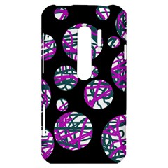 Purple decorative design HTC Evo 3D Hardshell Case