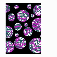 Purple decorative design Small Garden Flag (Two Sides)