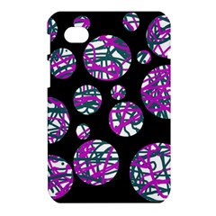 Purple decorative design Samsung Galaxy Tab 7  P1000 Hardshell Case