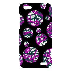Purple decorative design HTC One V Hardshell Case