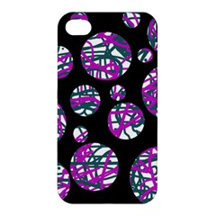 Purple decorative design Apple iPhone 4/4S Premium Hardshell Case