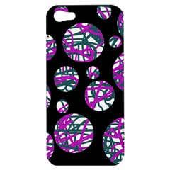 Purple decorative design Apple iPhone 5 Hardshell Case