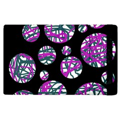 Purple decorative design Apple iPad 2 Flip Case
