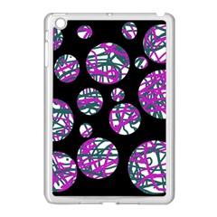 Purple decorative design Apple iPad Mini Case (White)