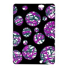 Purple decorative design Kindle Fire HDX 8.9  Hardshell Case