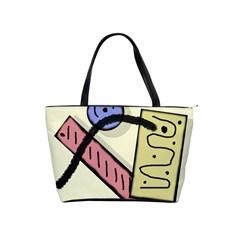 Decorative abstraction Shoulder Handbags