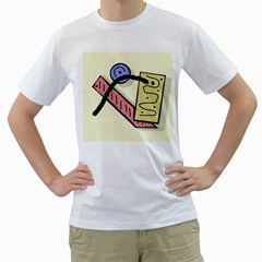 Decorative abstraction Men s T-Shirt (White)