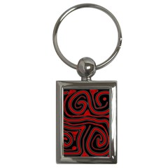 Red and black abstraction Key Chains (Rectangle)