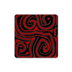 Red and black abstraction Square Magnet