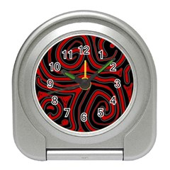 Red and black abstraction Travel Alarm Clocks
