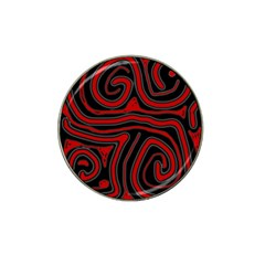 Red and black abstraction Hat Clip Ball Marker