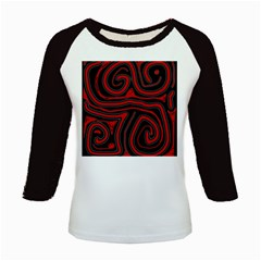 Red and black abstraction Kids Baseball Jerseys