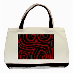 Red And Black Abstraction Basic Tote Bag