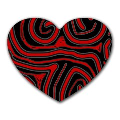 Red and black abstraction Heart Mousepads