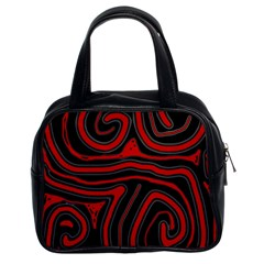 Red and black abstraction Classic Handbags (2 Sides)