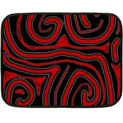 Red and black abstraction Double Sided Fleece Blanket (Mini)