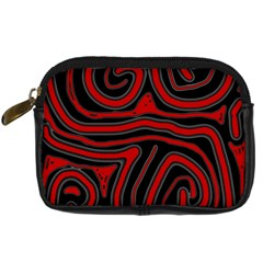 Red and black abstraction Digital Camera Cases