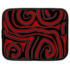 Red and black abstraction Netbook Case (XL)