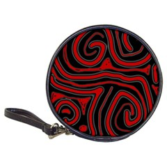 Red and black abstraction Classic 20-CD Wallets