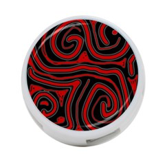 Red and black abstraction 4-Port USB Hub (One Side)