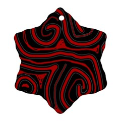 Red and black abstraction Snowflake Ornament (2-Side)