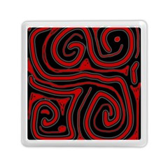 Red and black abstraction Memory Card Reader (Square)