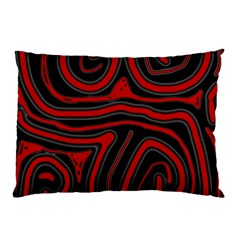 Red and black abstraction Pillow Case (Two Sides)