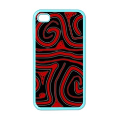 Red and black abstraction Apple iPhone 4 Case (Color)