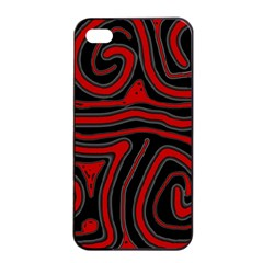 Red and black abstraction Apple iPhone 4/4s Seamless Case (Black)