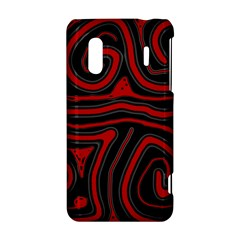 Red and black abstraction HTC Evo Design 4G/ Hero S Hardshell Case