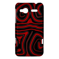 Red and black abstraction HTC Radar Hardshell Case