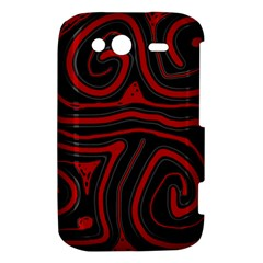 Red and black abstraction HTC Wildfire S A510e Hardshell Case