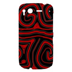 Red and black abstraction HTC Desire S Hardshell Case