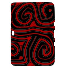 Red and black abstraction Samsung Galaxy Tab 8.9  P7300 Hardshell Case