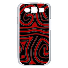 Red and black abstraction Samsung Galaxy S III Case (White)