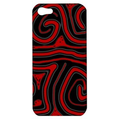 Red and black abstraction Apple iPhone 5 Hardshell Case