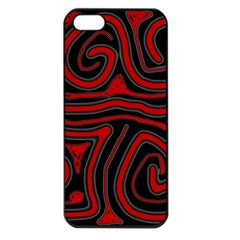 Red and black abstraction Apple iPhone 5 Seamless Case (Black)